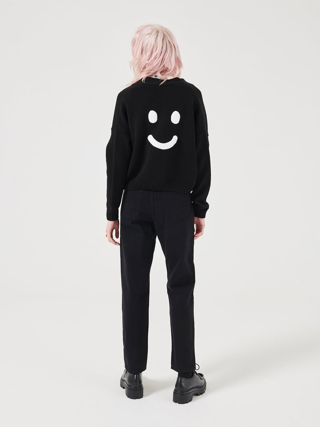 Lazy Oaf Happy Crop Cardigan