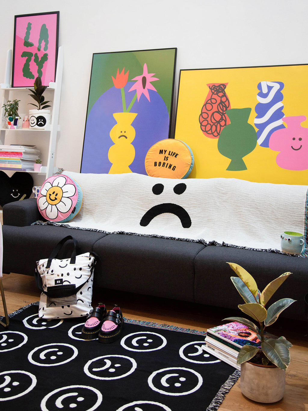 Lazy Oaf Large Two Faced Throw Blanket