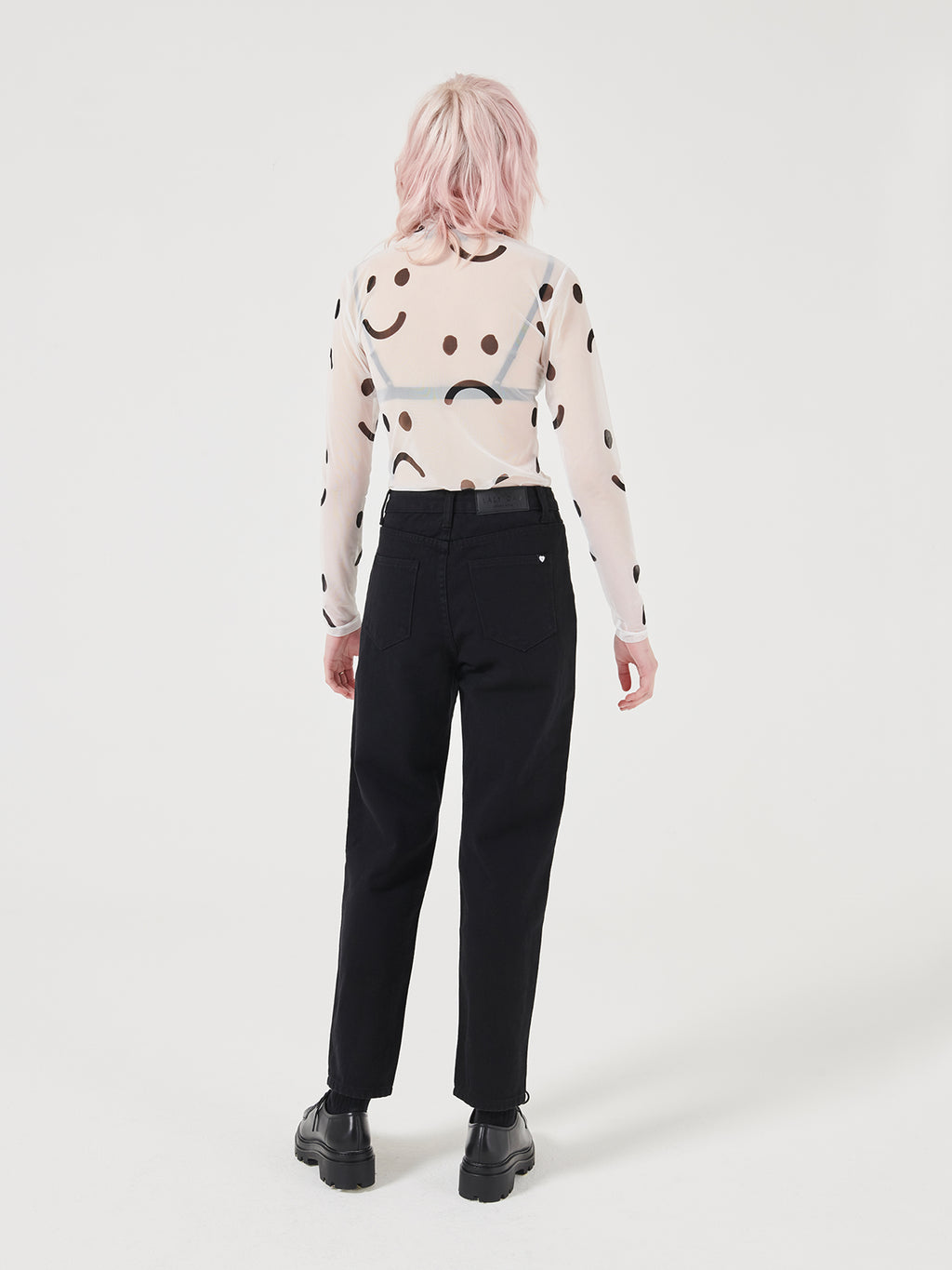 Lazy Oaf Happy Sad Sheer Top
