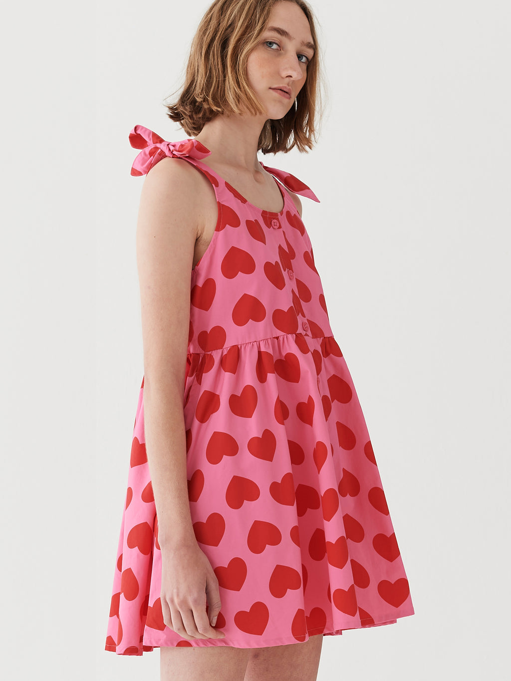 Lazy Oaf Heart Repeat Tie Dress
