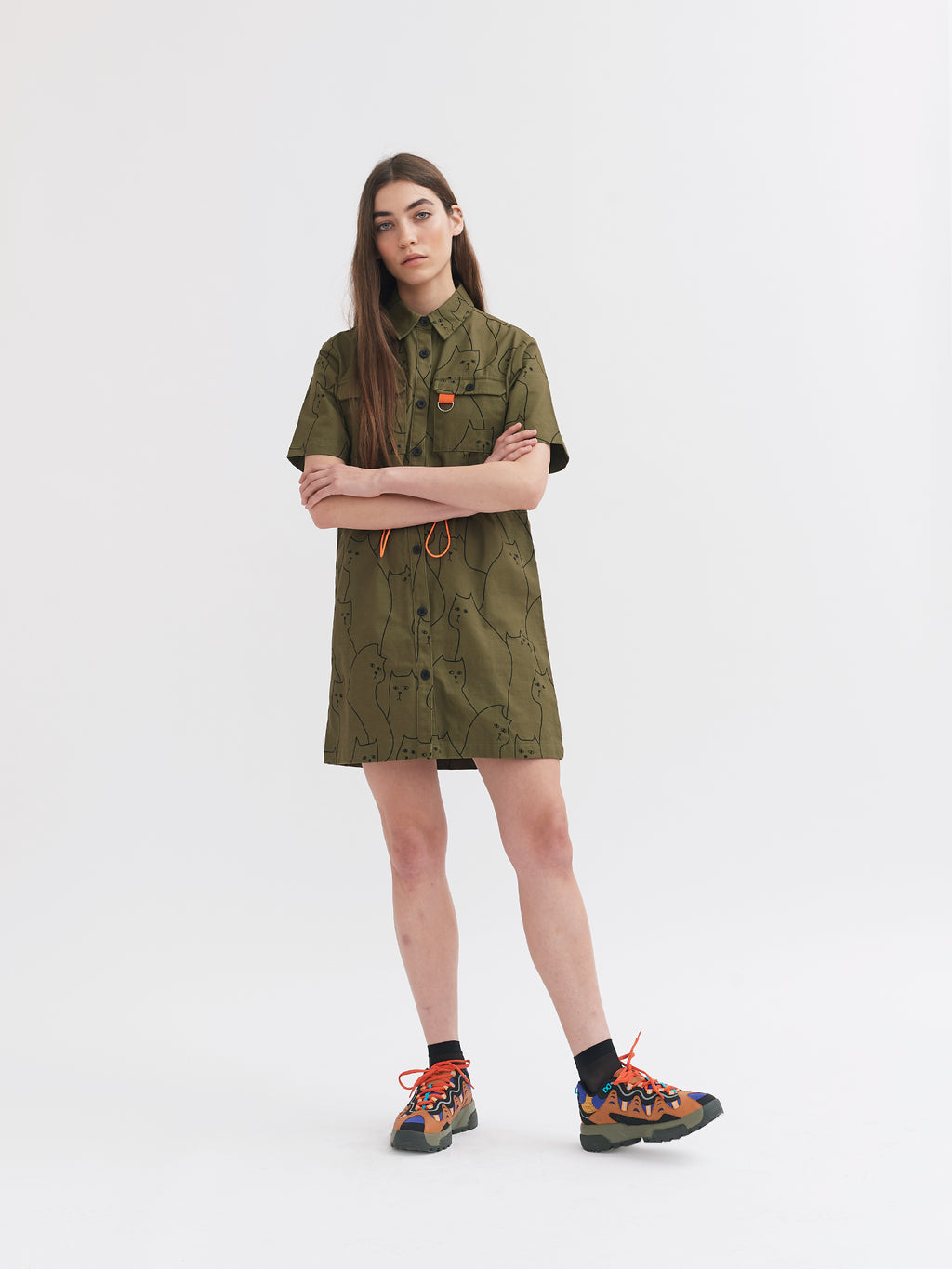 Lazy Oaf In The Cat House Shirt Dress