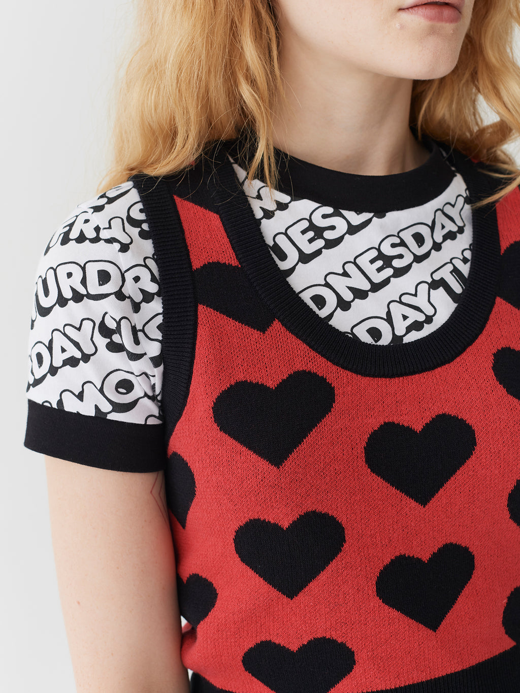 Lazy Oaf Knit Heart Tank Top