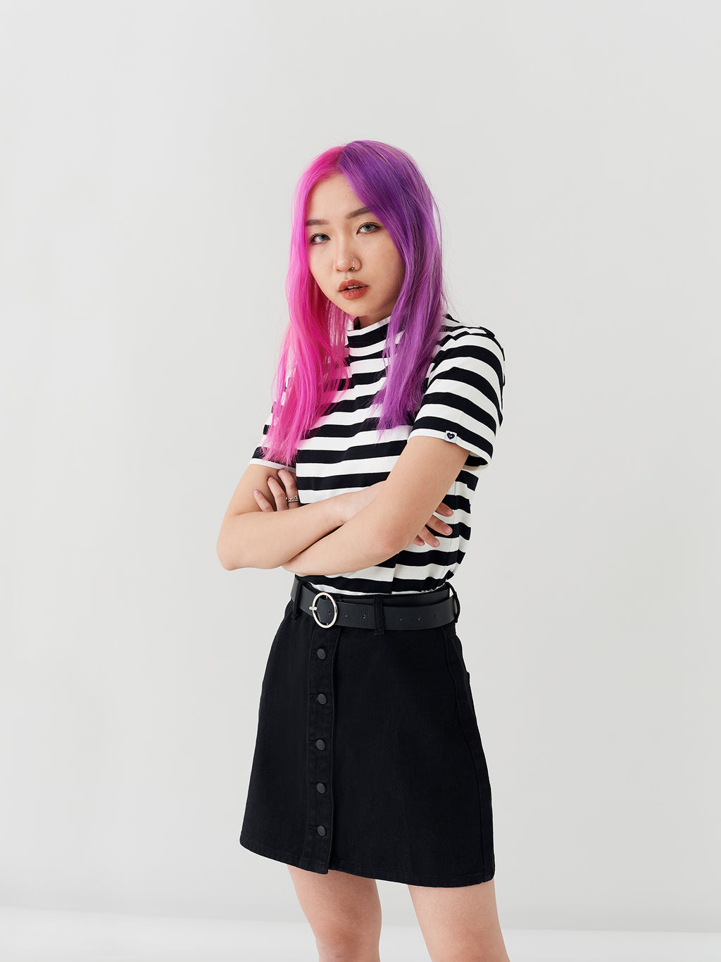LO Big Stripe Fitted Tee