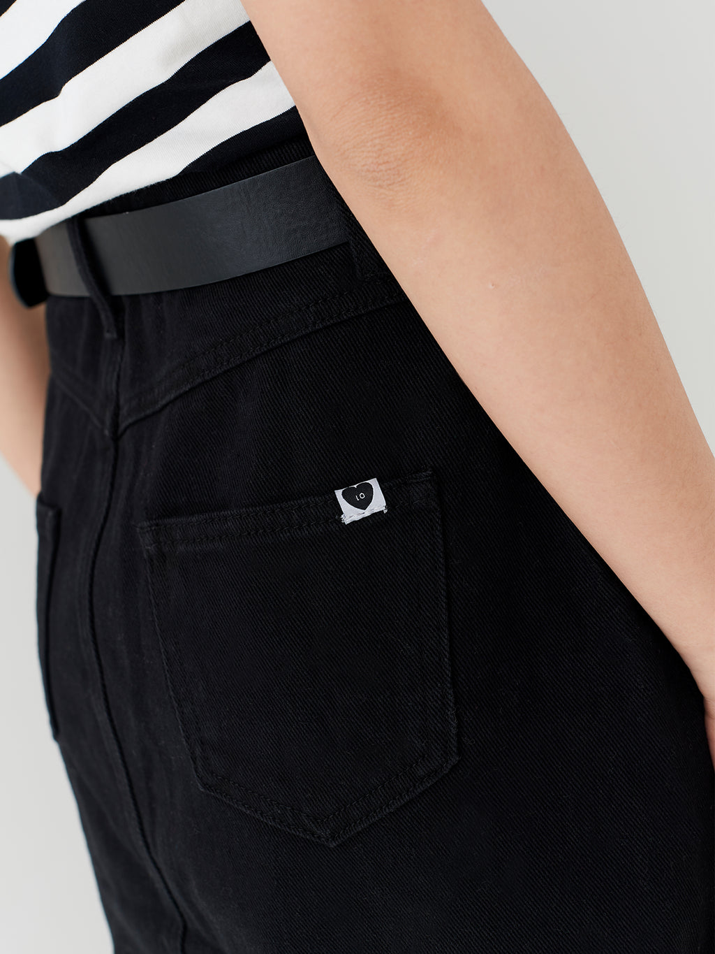 LO Black Button Through Skirt