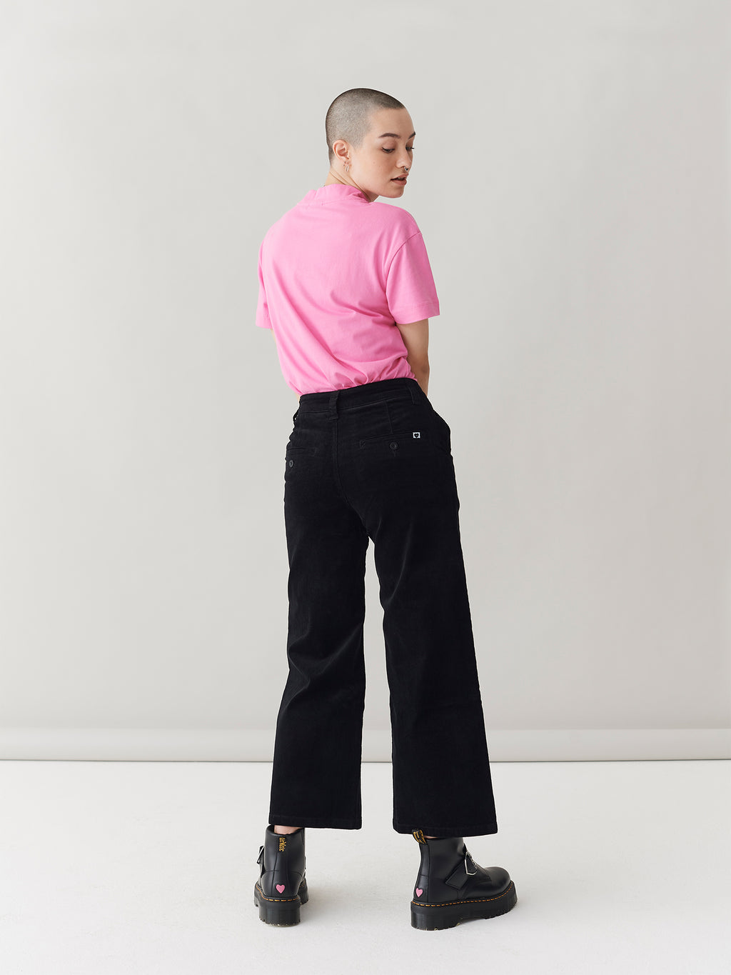 LO Black Cord Work Pants
