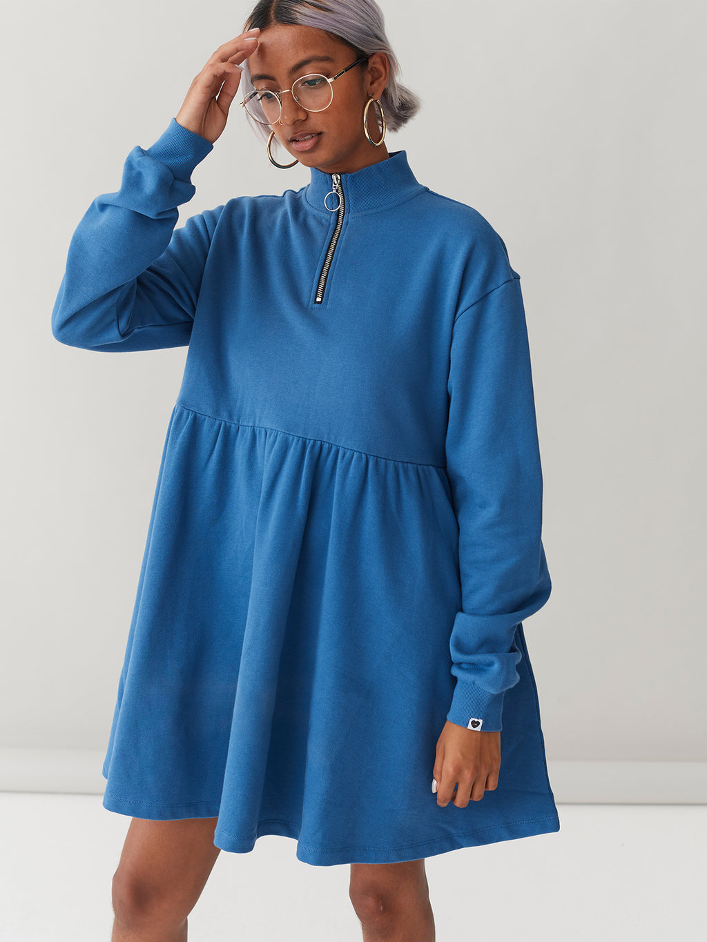 LO Blue Sally Sweater Dress