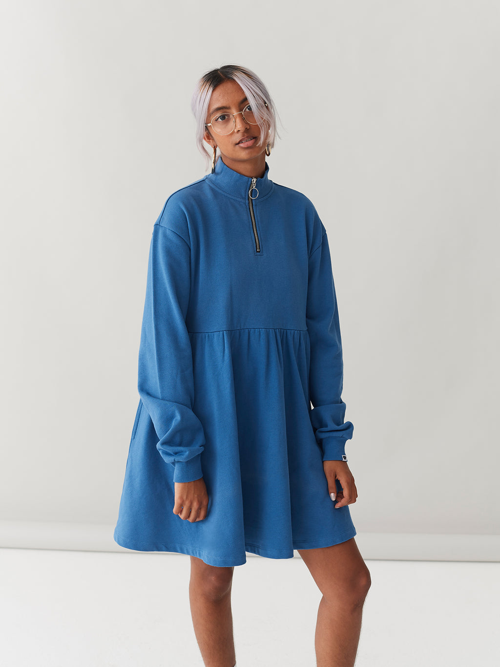 LO Sally Sweater Dress - Blue