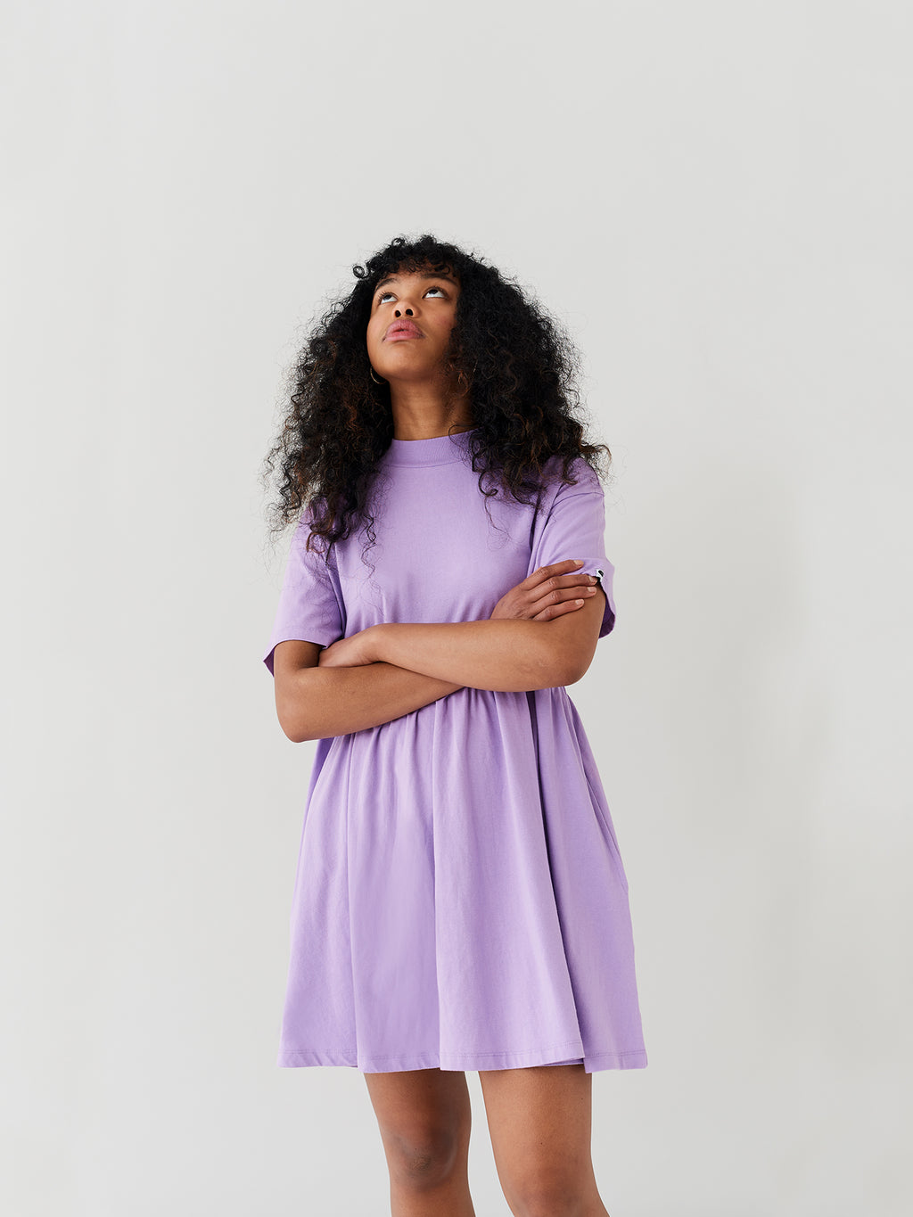 LO Lilac Short Sleeve Sally Dress