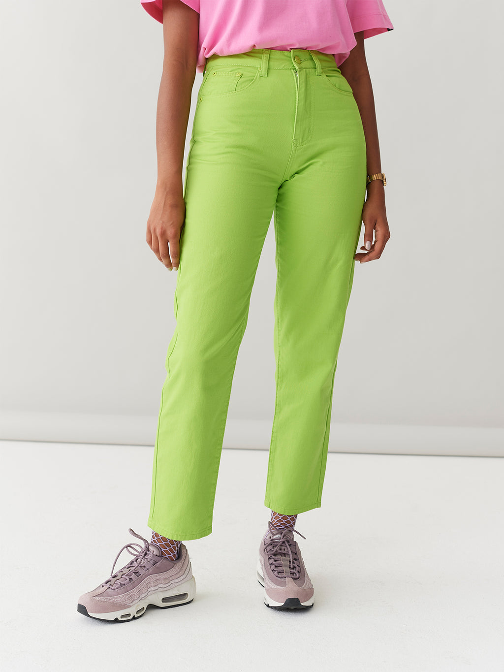 LO Lime Mom Jeans