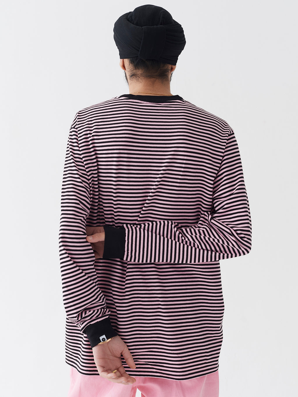 LO Mens Long Sleeve Stripy Tee