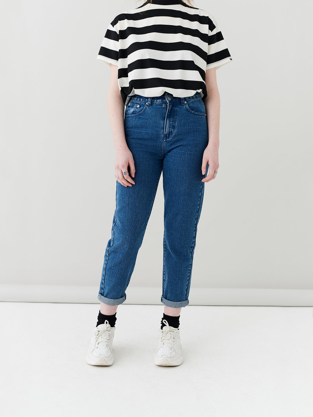 LO Mid Wash Mom Jeans