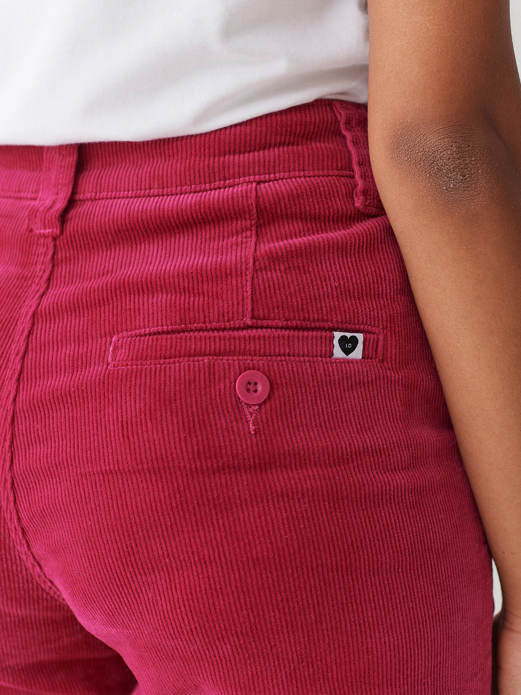 LO Work Pants - Pink Cord