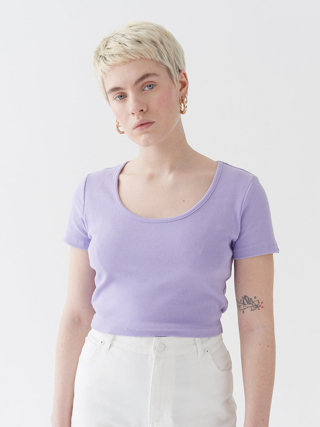 LO Scoop Neck Tee - Purple