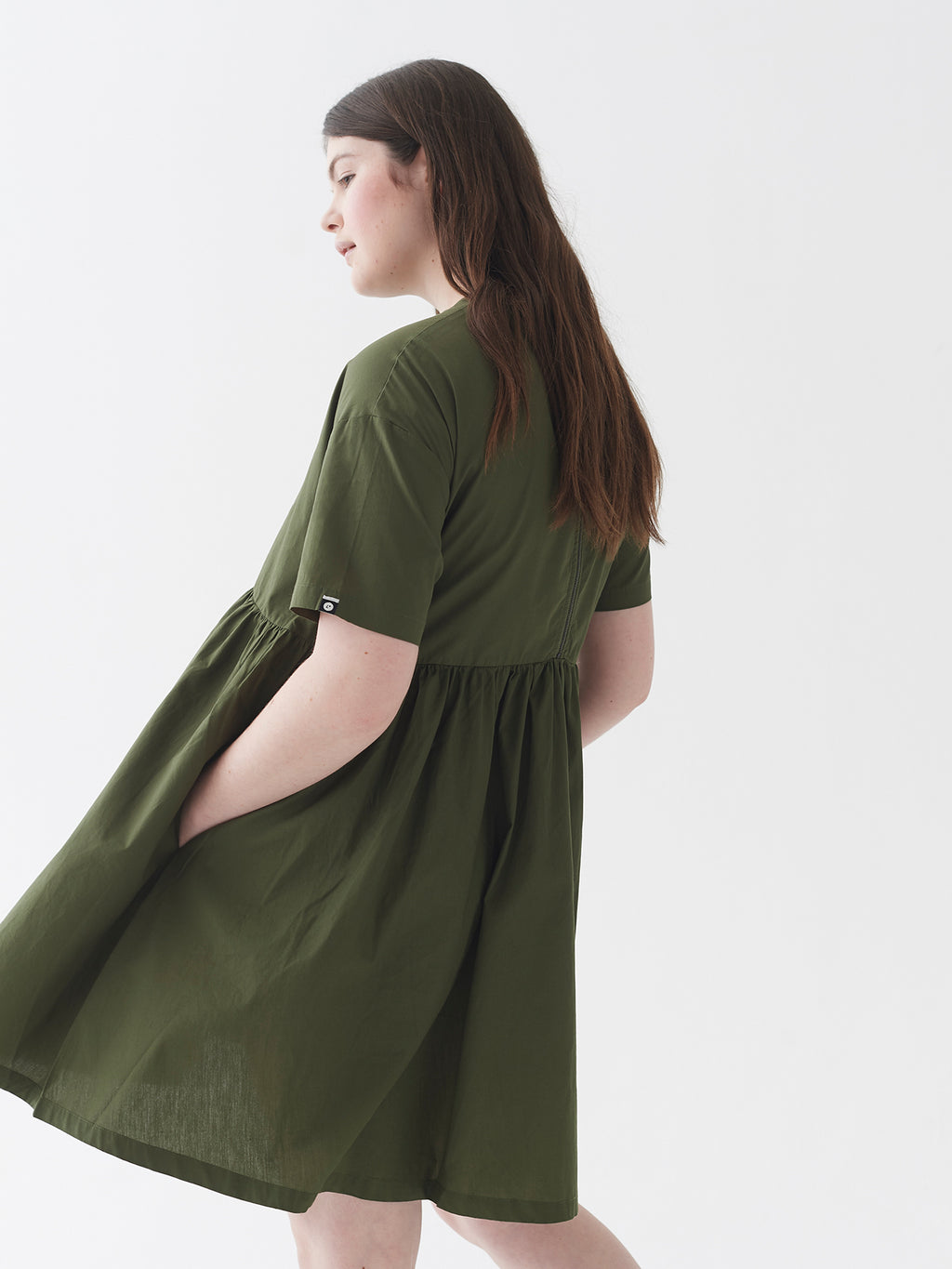 LO Woven Sally Dress - Khaki