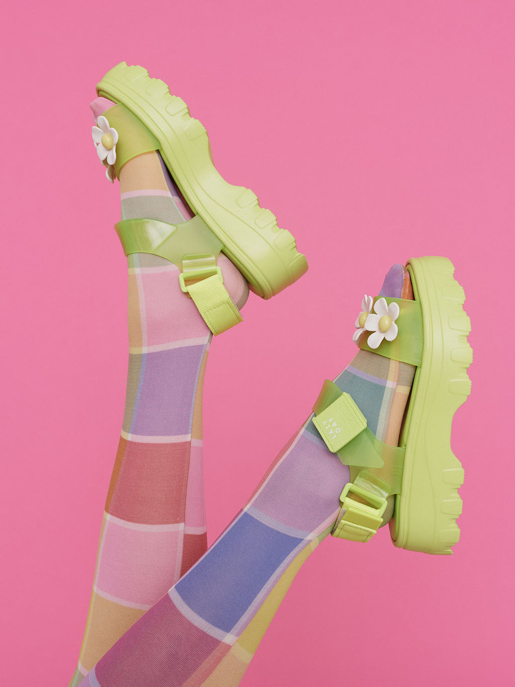 Melissa x LO Green Kick Off Sandal