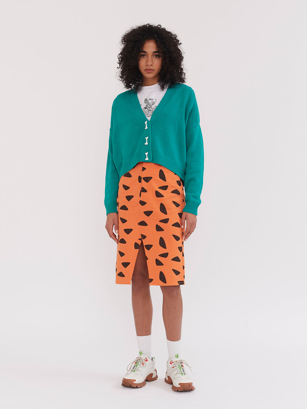 Lazy Oaf x The Flintstones Dino Bone Cardigan