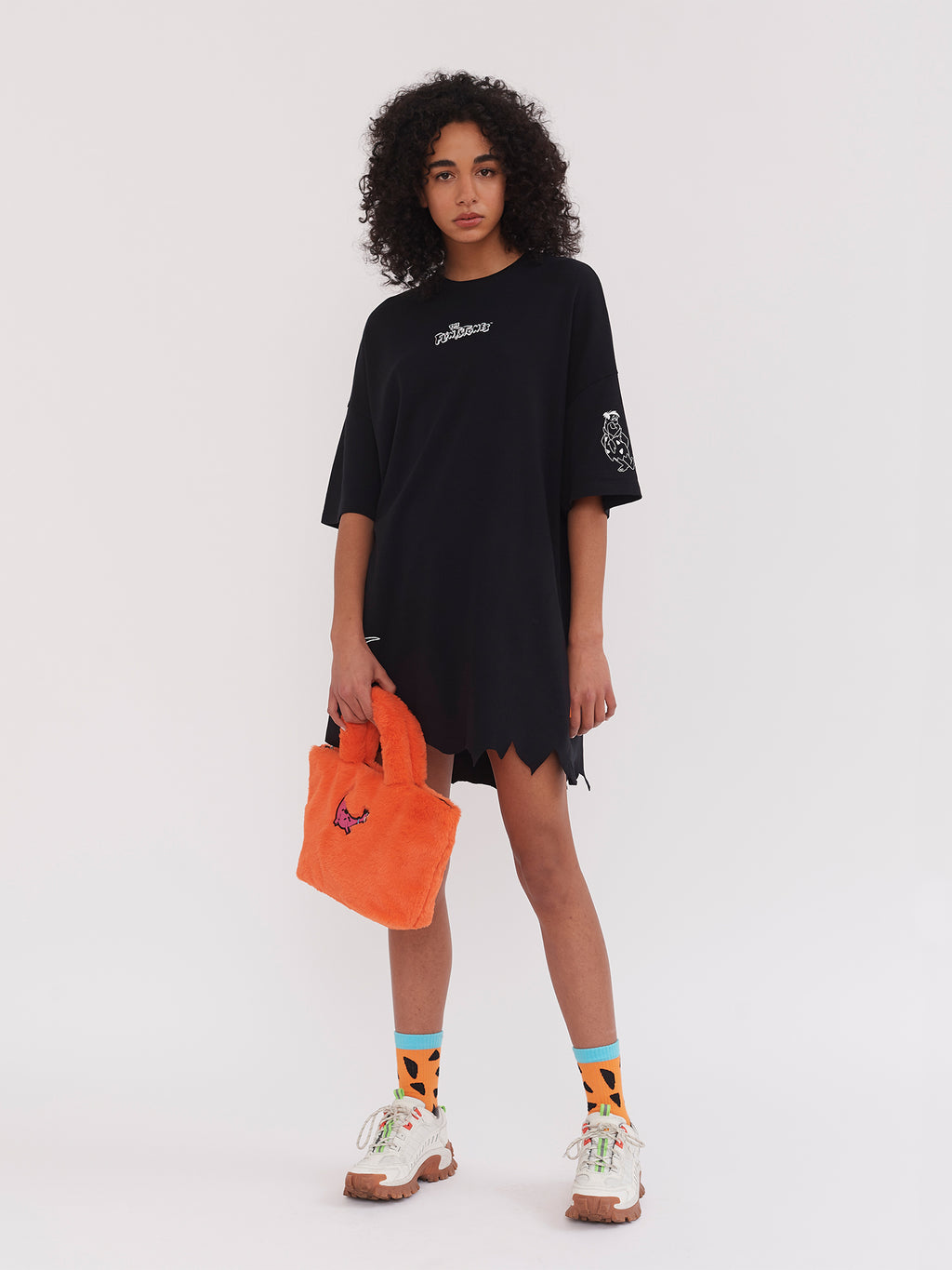 Lazy Oaf x The Flintstones Torn Hem T-Shirt Dress