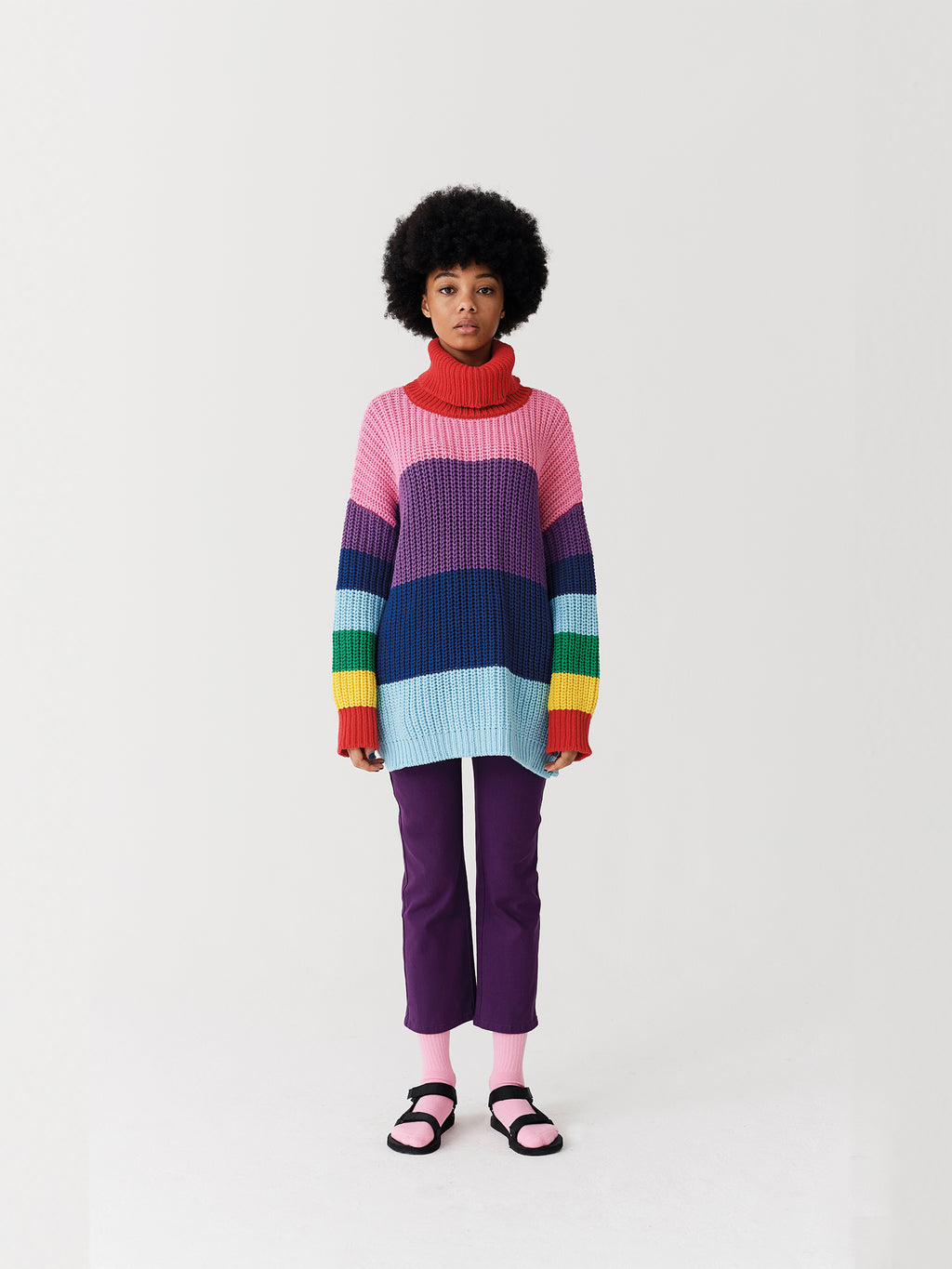Lazy Oaf Lazy Rainbow Knit Roll Neck
