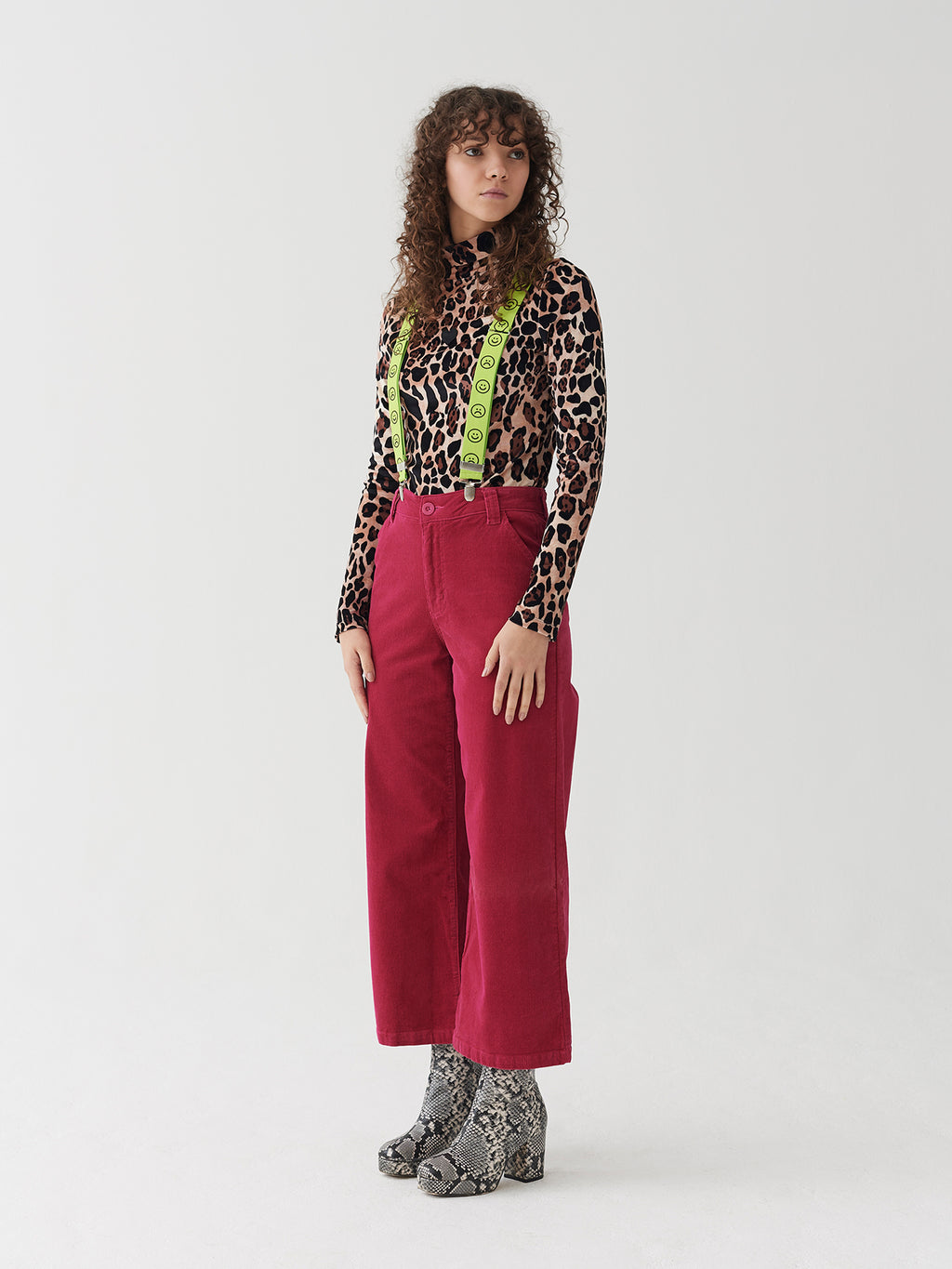 Lazy Oaf Leopard Velour Turtleneck