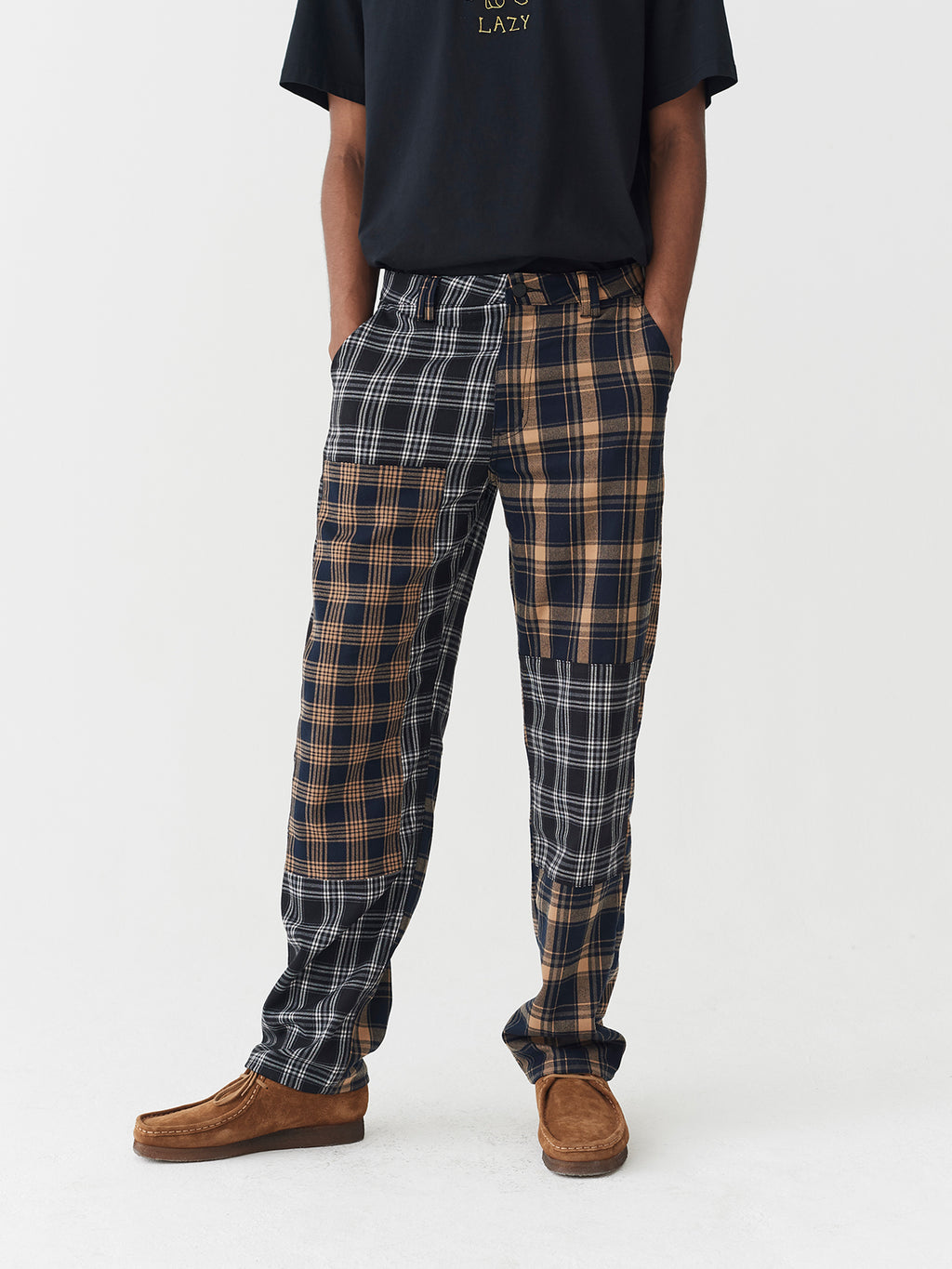 Lazy Oaf Mixed Check Pants
