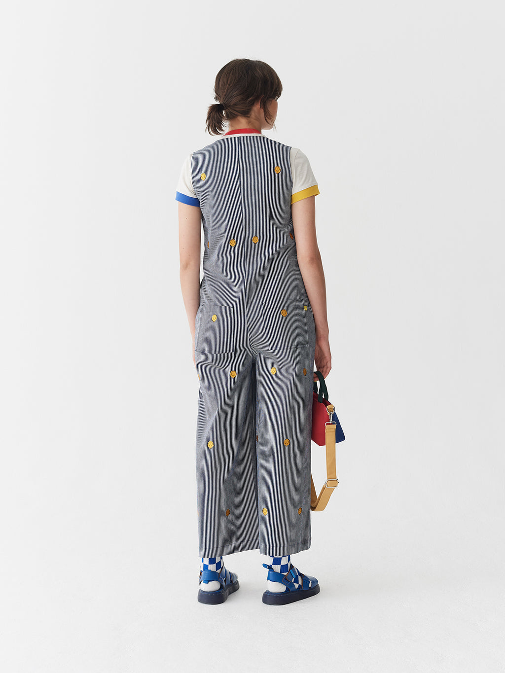 Lazy Oaf x Mr. Men Mr. Happy Stripy Jumpsuit