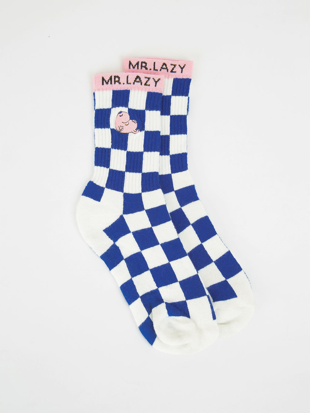 Lazy Oaf x Mr. Men Mr. Lazy Check Socks