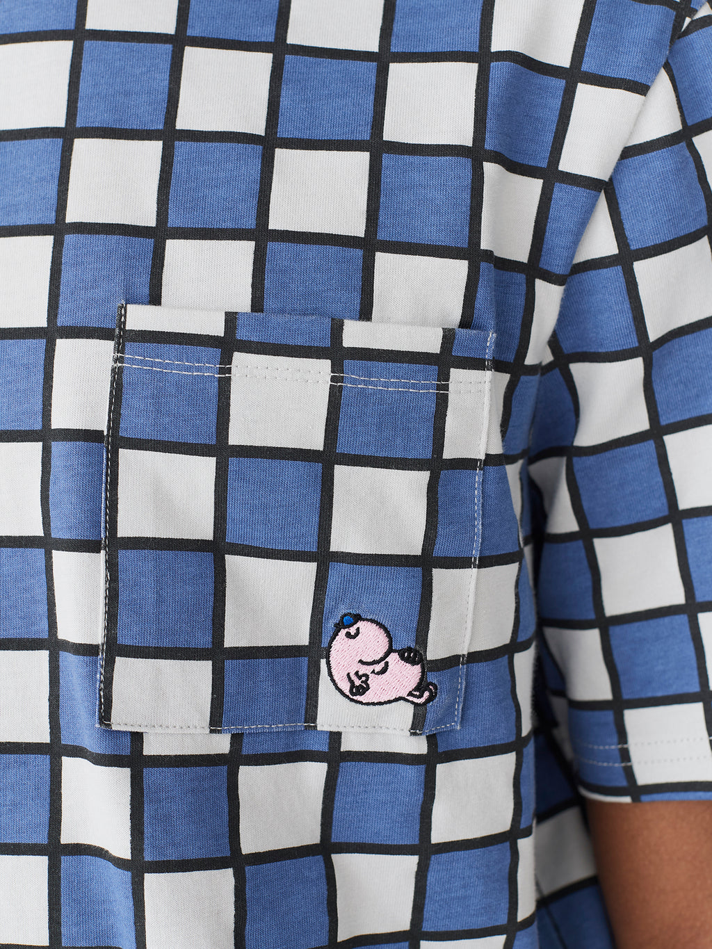 Lazy Oaf x Mr. Men Mr. Lazy Check T-Shirt