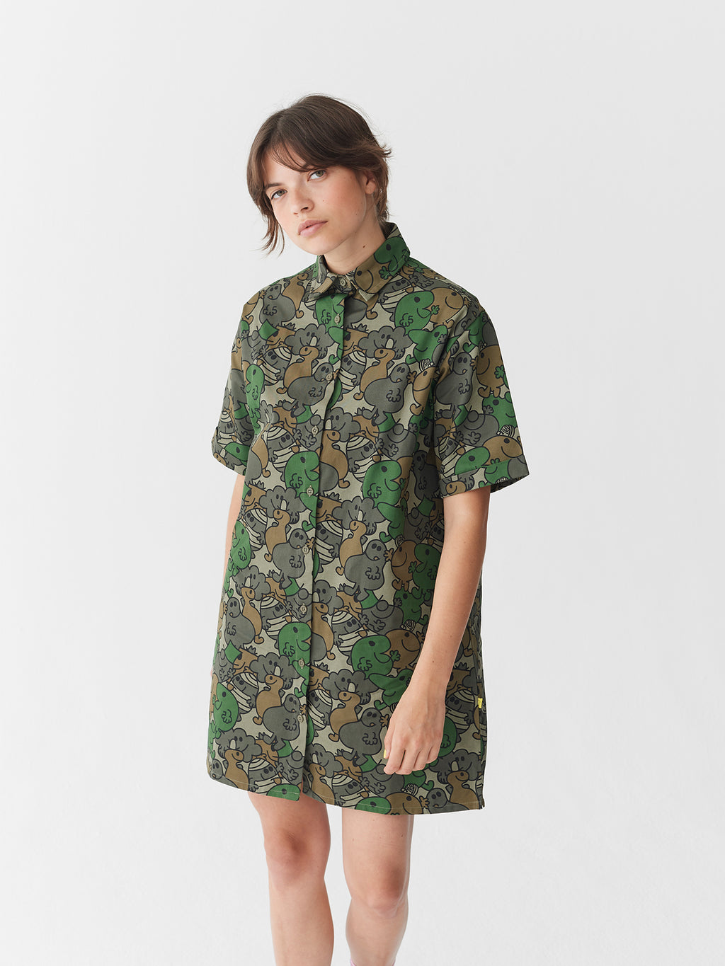 Lazy Oaf x Mr. Men Camo Shirt