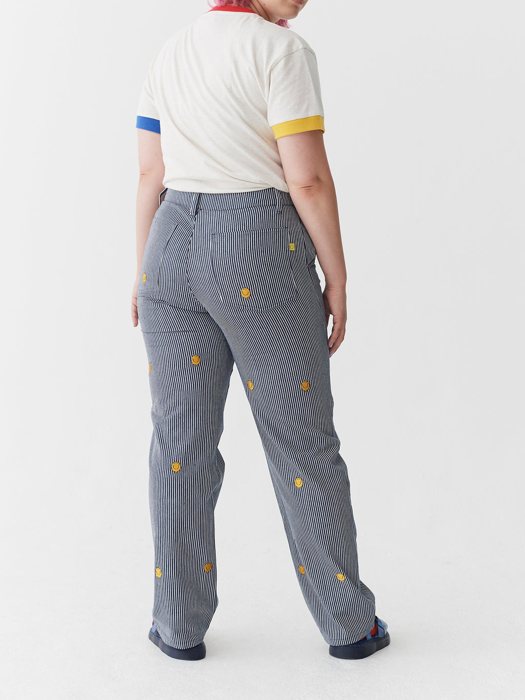Lazy Oaf x Mr. Men Mr. Happy Pinstripe Pants