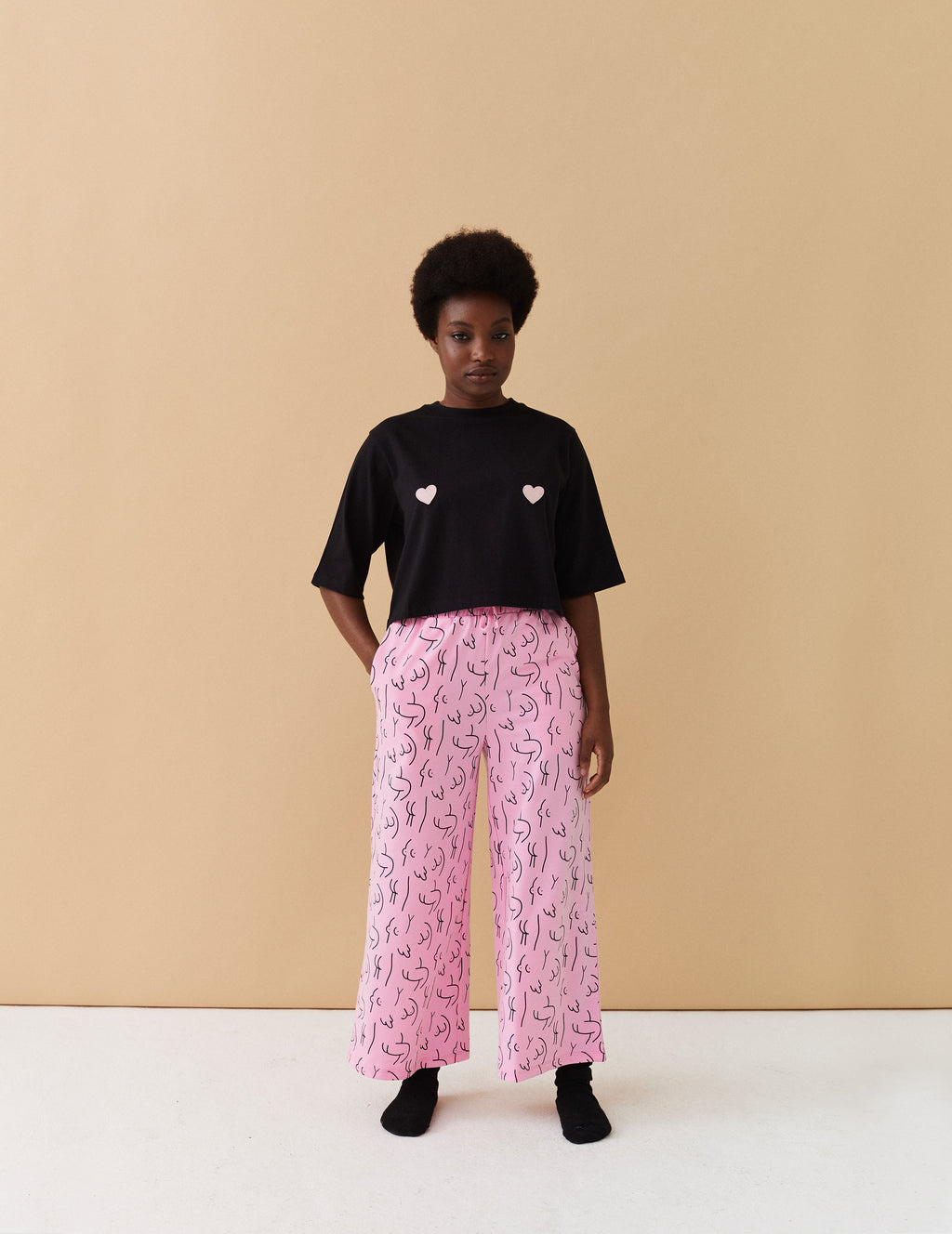 Lazy Oaf Naked Crop PJ Set