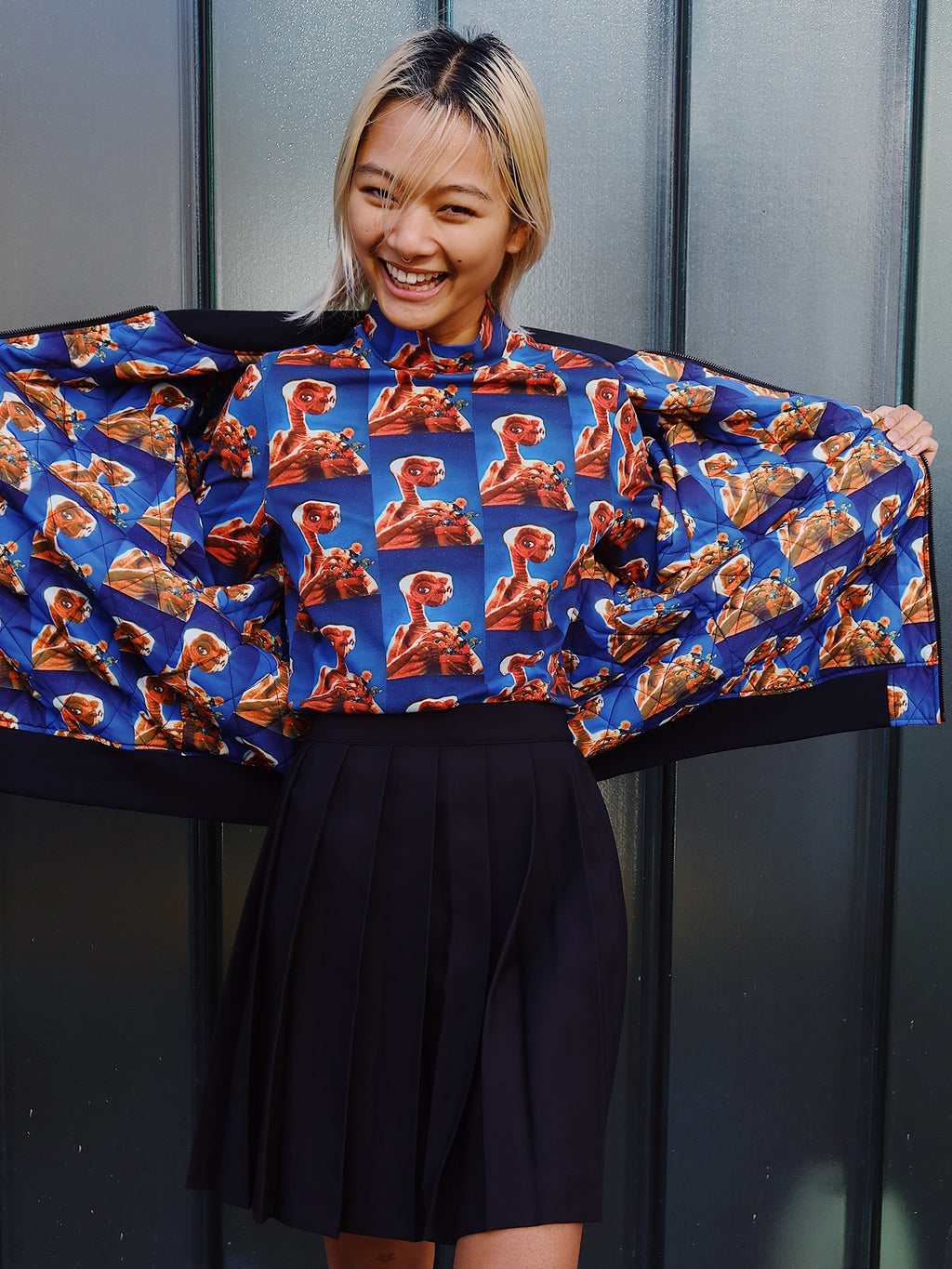 Lazy Oaf X E.T Repeat Long Sleeve Top