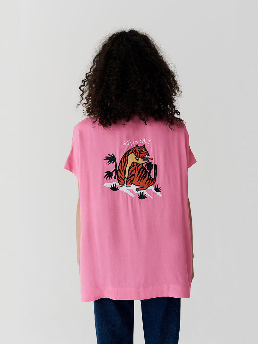 3f6ada518d62d7 Lazy Oaf Nowhere Tiger Shirt