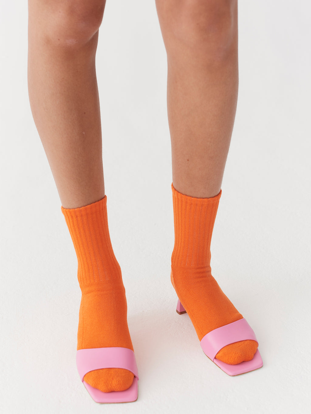 Lazy Oaf Happy Sad Orange Socks