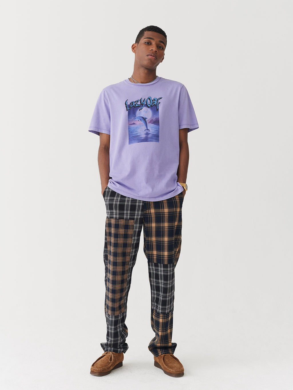 Lazy Oaf Over The Moon Dolphin T-Shirt