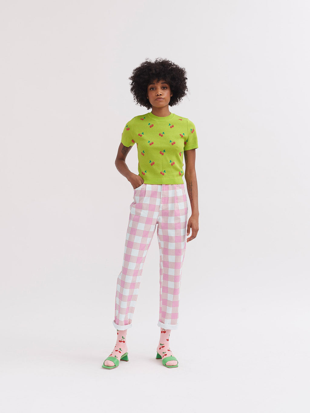 Lazy Oaf Pink Picnic Trousers