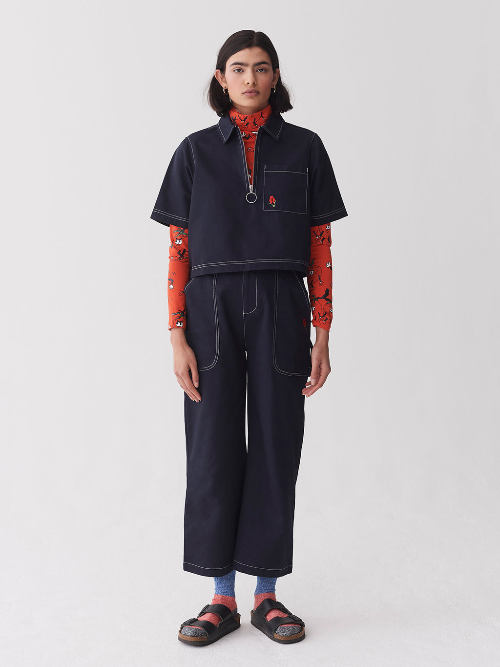 Lazy Oaf Picking Roses Work Pants
