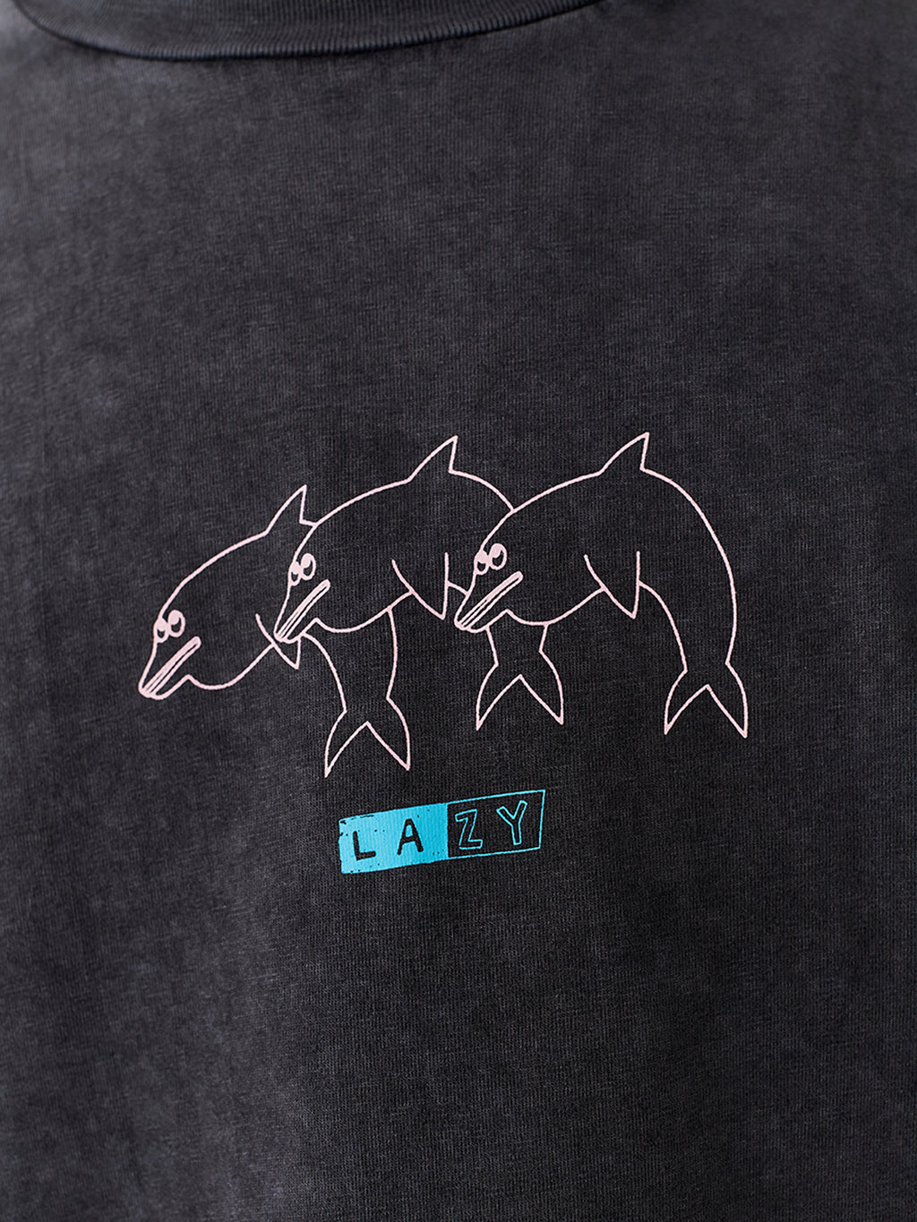 Lazy Oaf Lazy Pink Dolphin Long Sleeve T-Shirt