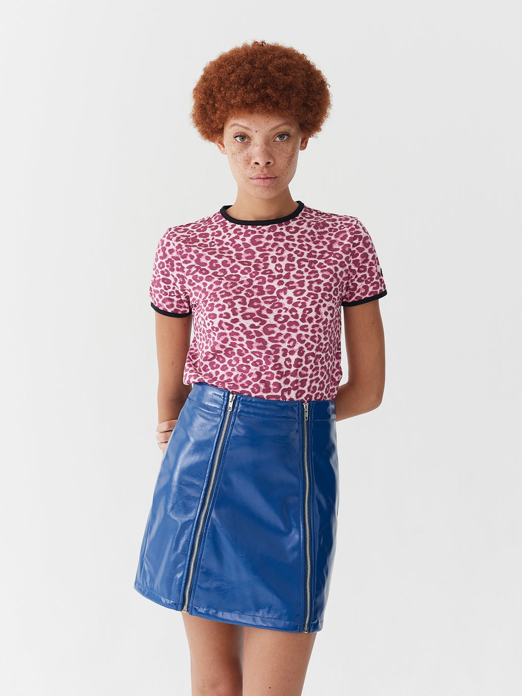 Lazy Oaf Pink Leopard Fitted T-Shirt