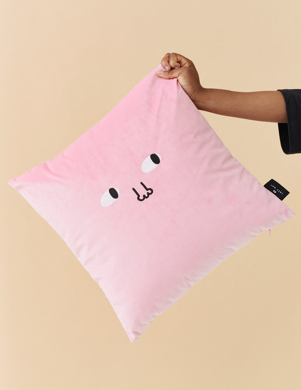 Lazy Oaf Leave Me Alone Cushion - Pink