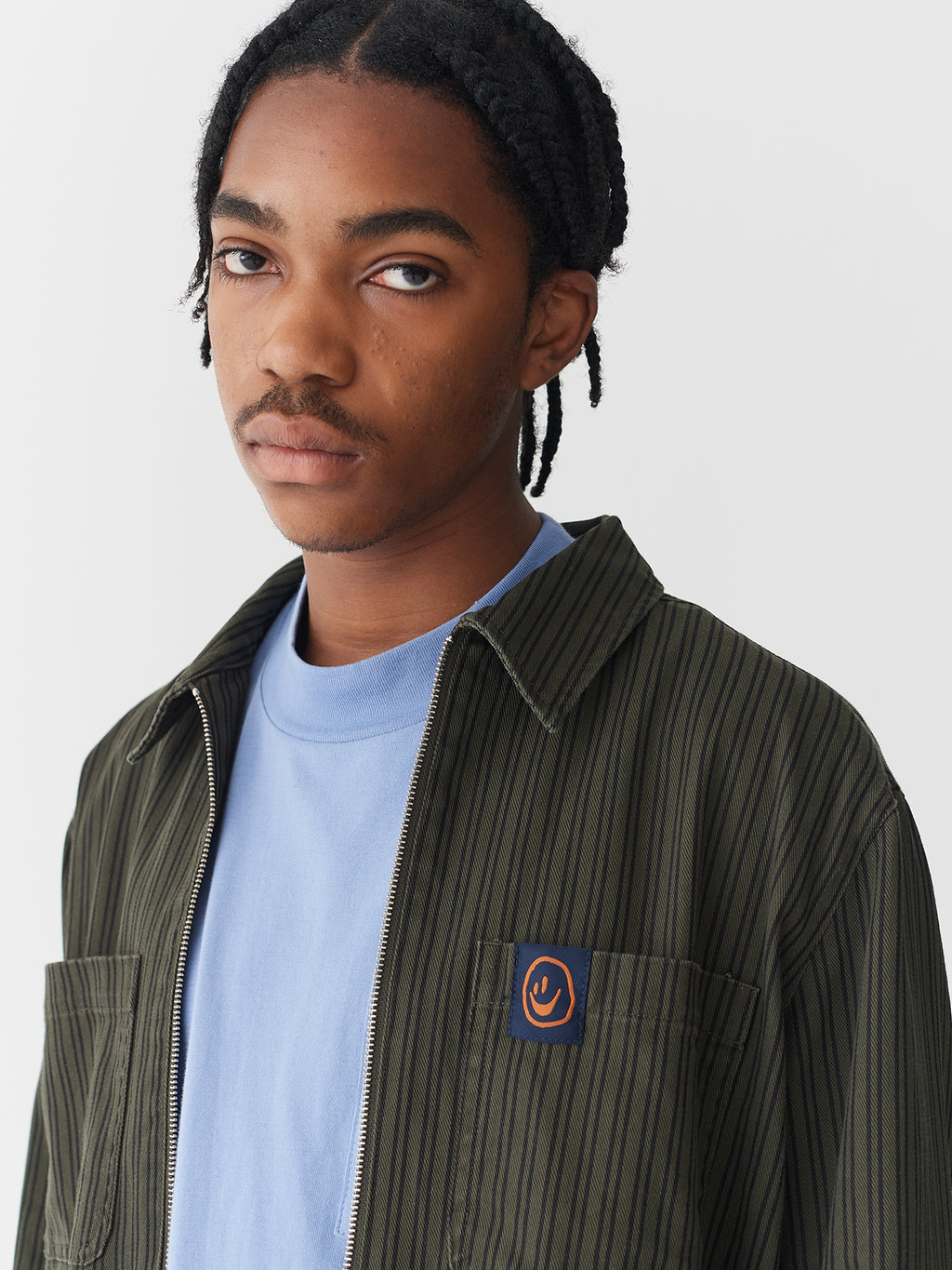 Lazy Oaf Pinstripe Work Jacket