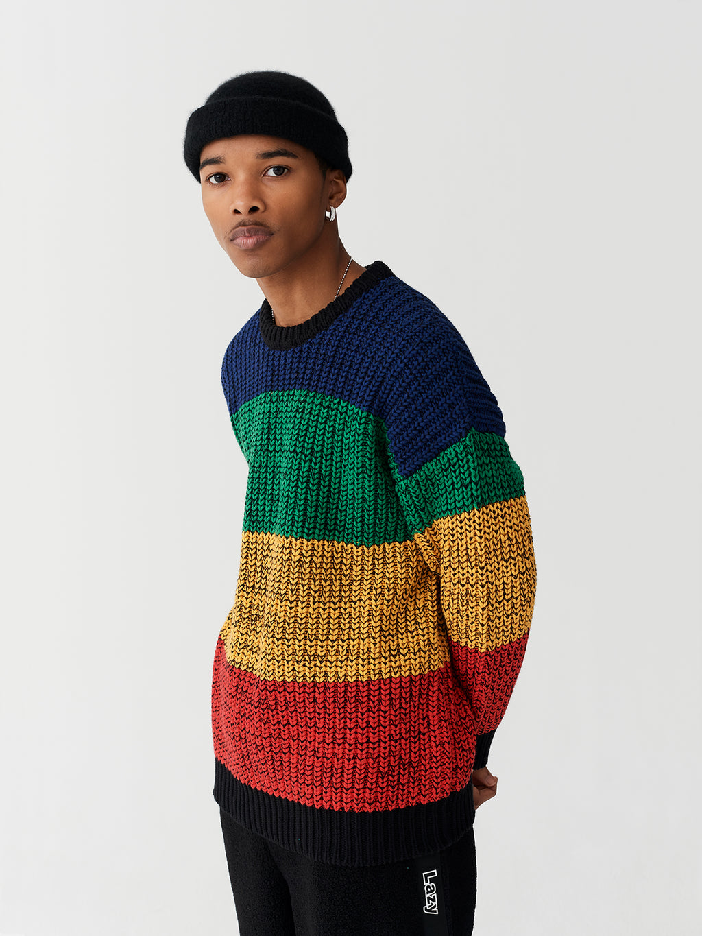 Lazy Oaf Rainbow Knitted Jumper