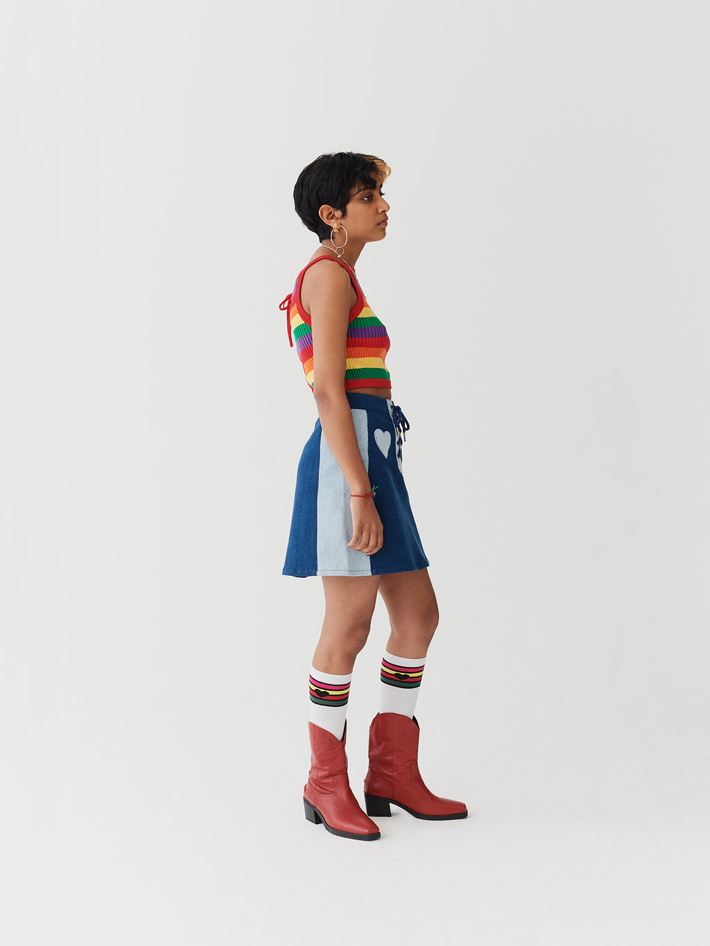 Lazy Oaf Rainbow Knit Crop Top
