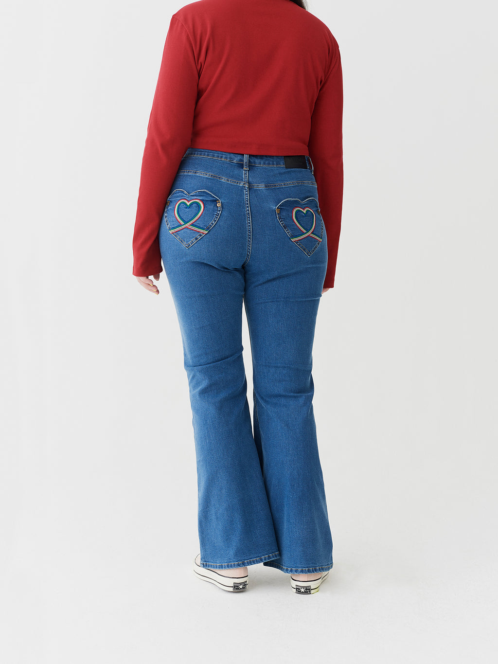 Lazy Oaf Rainbow Love Jeans