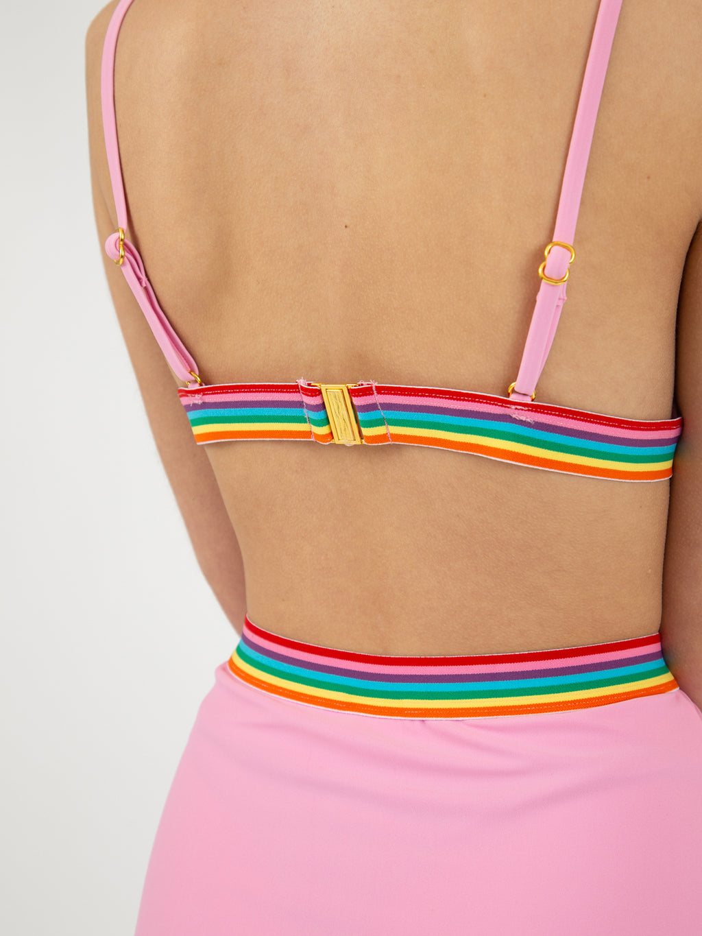 Lazy Oaf Rainbow Love Bikini Top