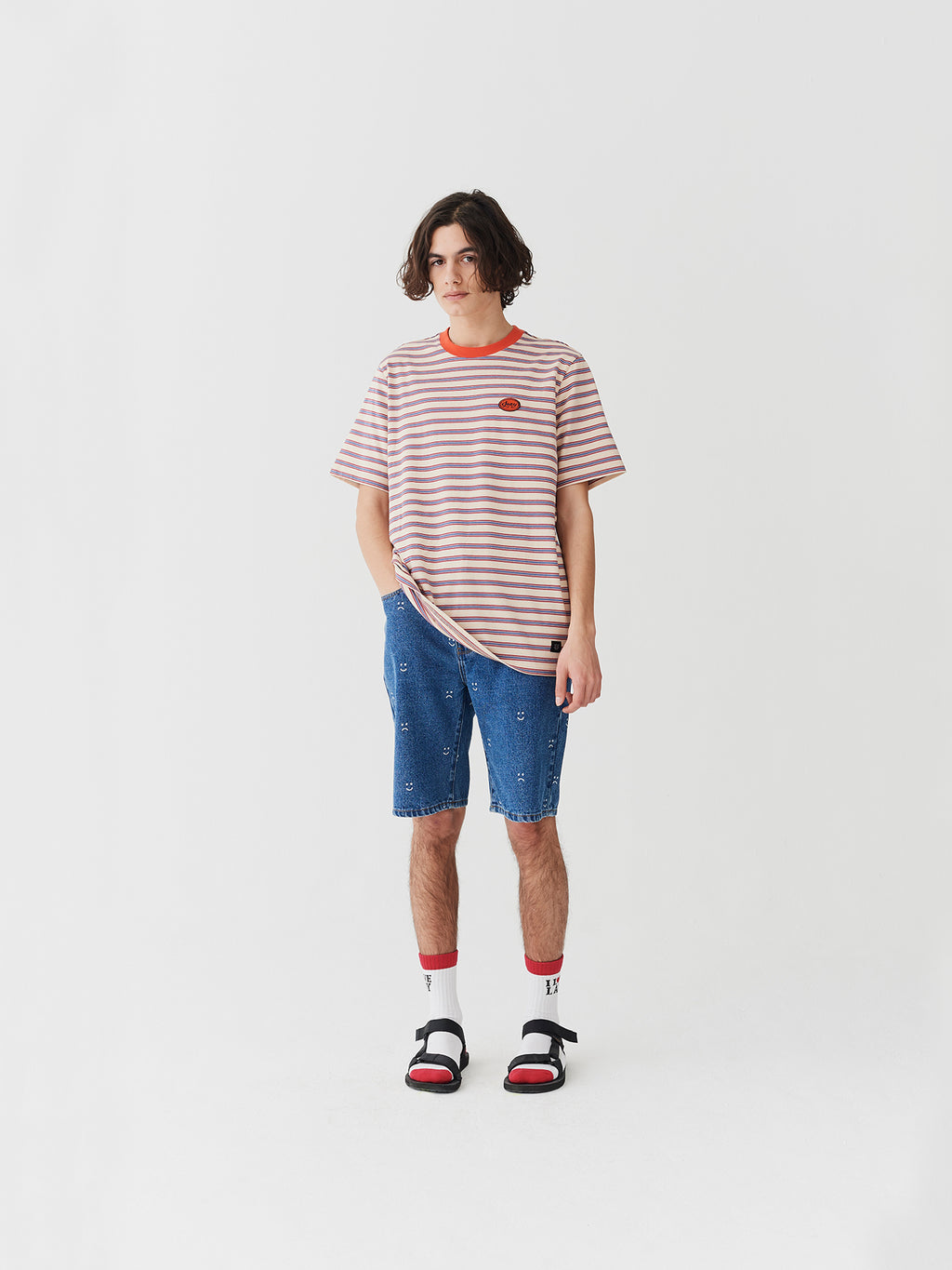Lazy Oaf Retro Mini Stripe T-Shirt