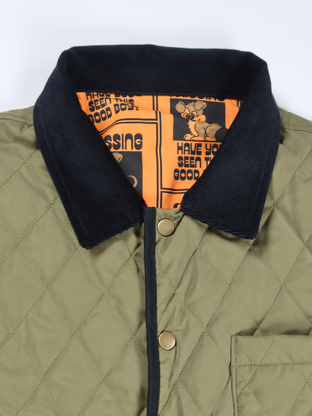 Lazy Oaf Missing Dog Quilt Jacket