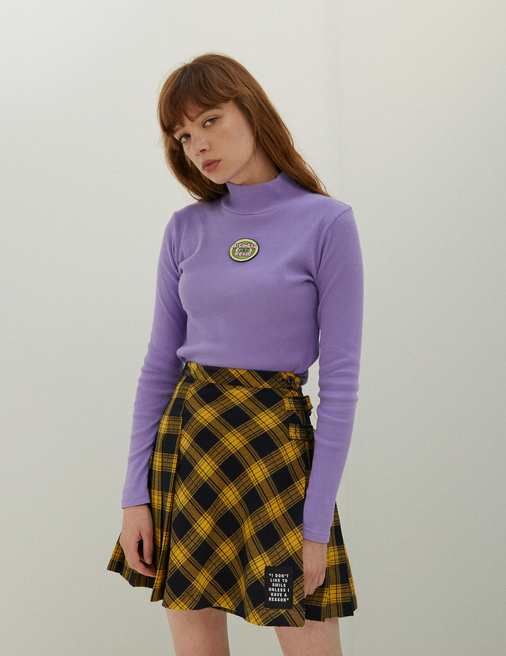 Lazy Oaf x Daria I Don't Like To Smile Skirt