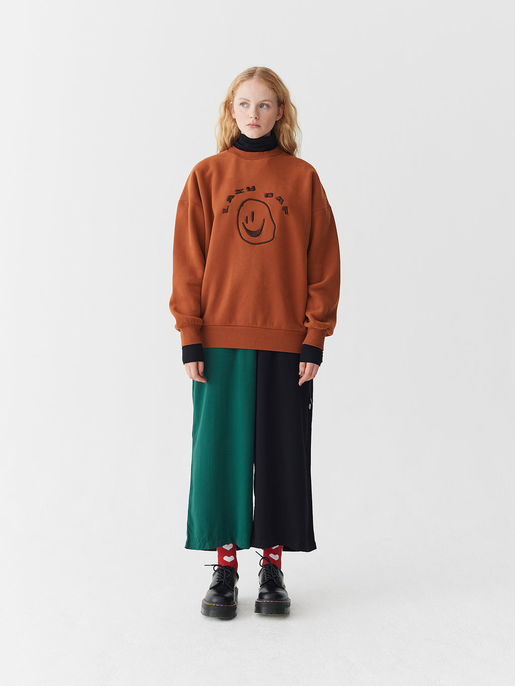 Lazy Oaf Squish Face Layer Sweatshirt