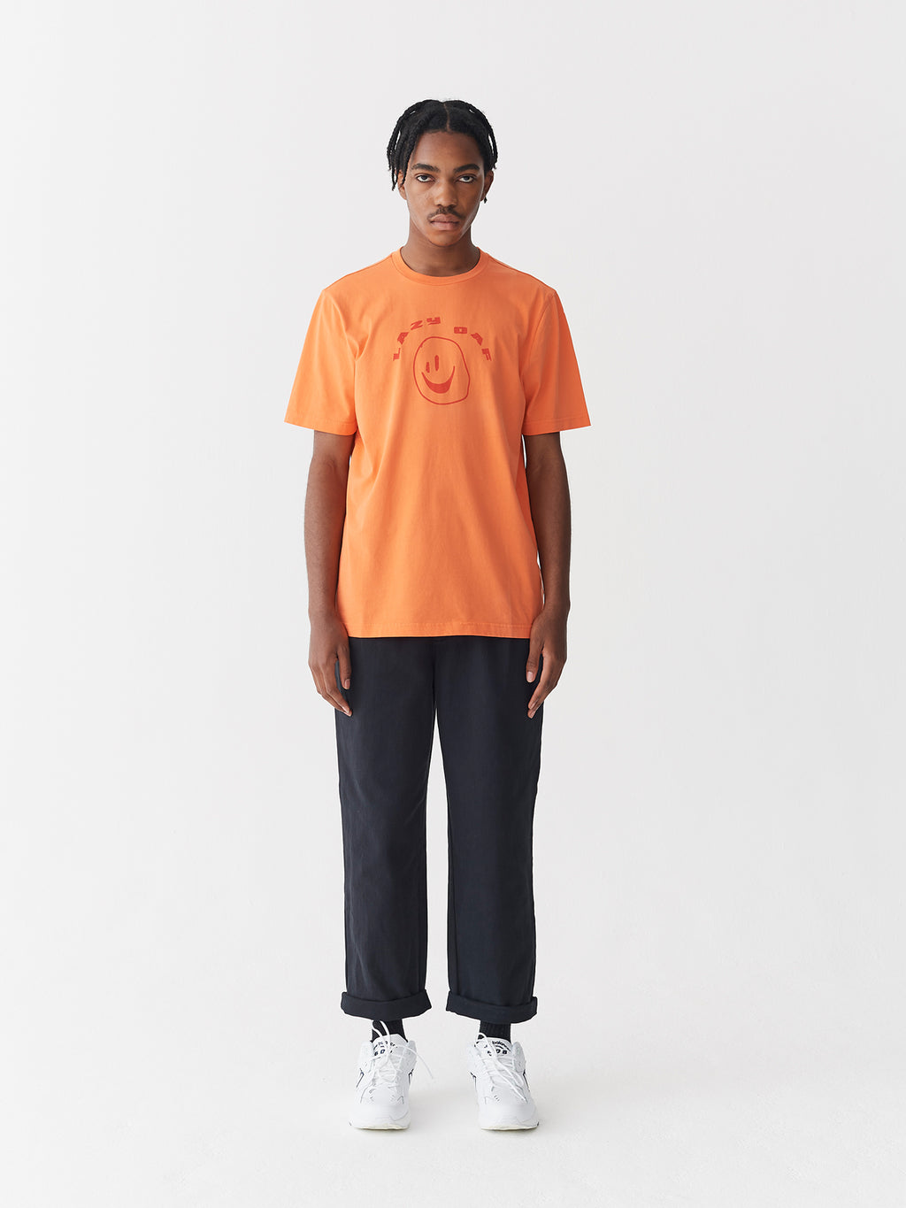 Lazy Oaf Squish Face Orange T-Shirt