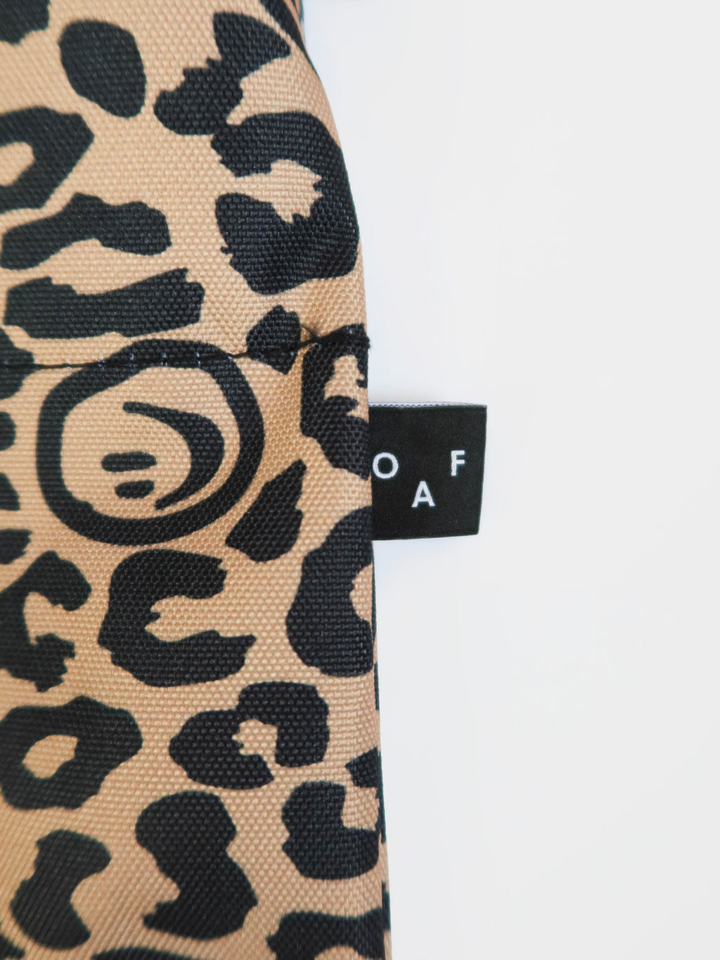 Lazy Oaf Squish Face Leopard Shoulder Bag